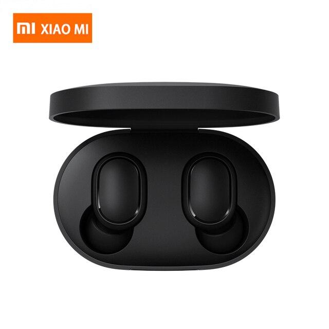 Xiaomi Redmi Airdots TWS Mi prawdziwe bezprzewodowe słuchawki Bluetooth Stereo Bass Bluetooth 5.0 z mikrofonem zestaw głośnomówiący słuchawki AI