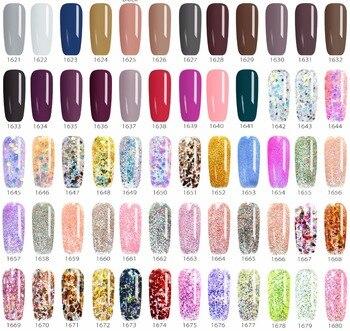 180 couleurs de gel à ongles