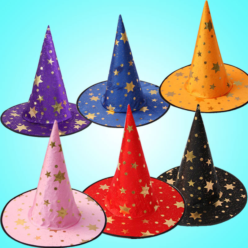 New 2018 Witch Hats Masquerade Ribbon Wizard Hat Party Hats Cosplay Costume Accessories Halloween Party Fancy Dress Decoration