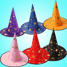 New 2018 Witch Hats Masquerade Ribbon Wizard Hat Party Hats Cosplay Costume Accessories Halloween Party Fancy Dress Decoration(China)