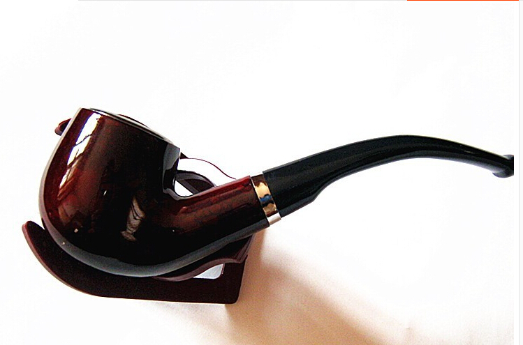2018 copper Smoking Pipe Durable Smoking Cigarette Pipe Tobacco Cigar Pipes Black Remove tar Smoking Pipes free shipping LH0139