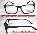 Mate negro moda montura completa lentes ópticos de Lectura Óptica Por Encargo gafas + 1 + 1.5 + 2 + 2.5 + 3 + 3.5 + 4 + 4.5 + 5 + 5.5 + 6