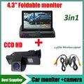 3in1 2.4G wireless signal CCD HD Car Parking Reverse camera Cam For Mercedes Benz Vito Viano MPV +4.3 Inch Folding Car Monitor