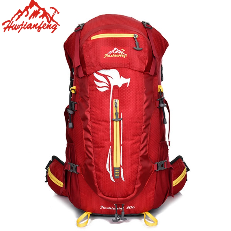 Outdoor Bicycle Camping Hiking Backpack Running Sport Bag Travel Trekk Rucksack Mountain Climb Equipment  50L For Men Women Male