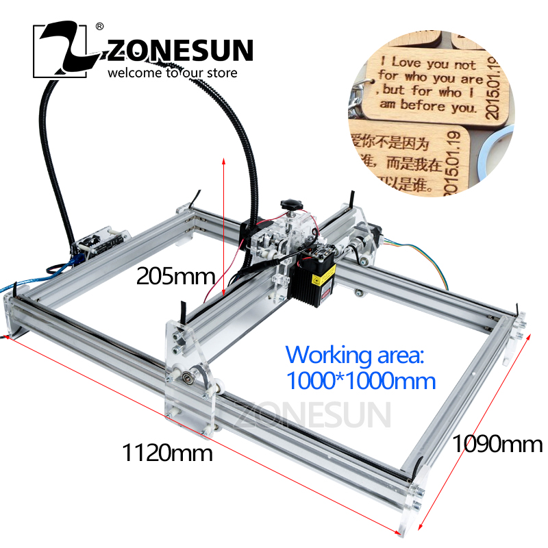 US $189 0 10% OFF|ZONESUN 5500MW AS 3 Big Work Area 1M1M DIY Laser Machine  Laser Engraving Machine CNC Laser Machine Advanced Toys Best Gift-in Wood