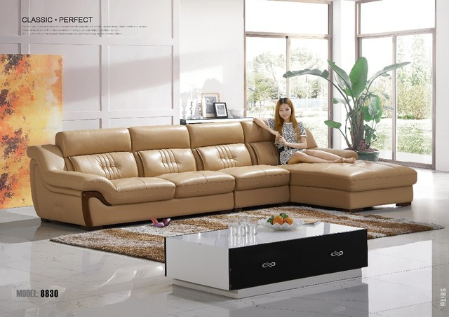 alibaba furniture. European Royal Style Solid Wood Real Cow Leather Sofa, Classic Design Alibaba China Sofa Set Furniture