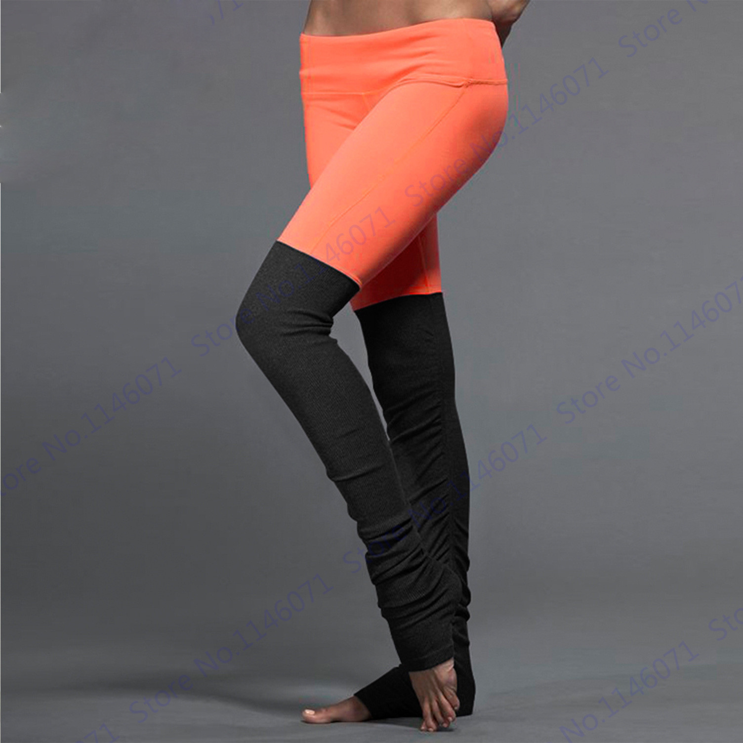 Womens Yoga Pants Candy Color Compression Running Tights