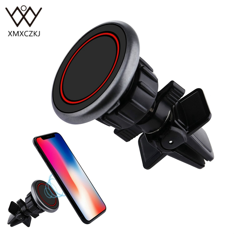 XMXCZKJ Magnetic Mini Air Vent Car Mount Holder Cradle Universal Car Phone Holder Strong Magnet Metal Stand For IPhone 8 GPS