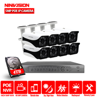 NIVISION H.265 16CH cctv systems camera nvr 4K 5MP ultra hd Waterproof 5.0MP Security Poe IP Camera cctv camera security system