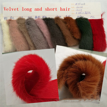 High-quality swan water velvet velvet long and short hair snow velvet high and low hair clothing toys shoes plush  fabric