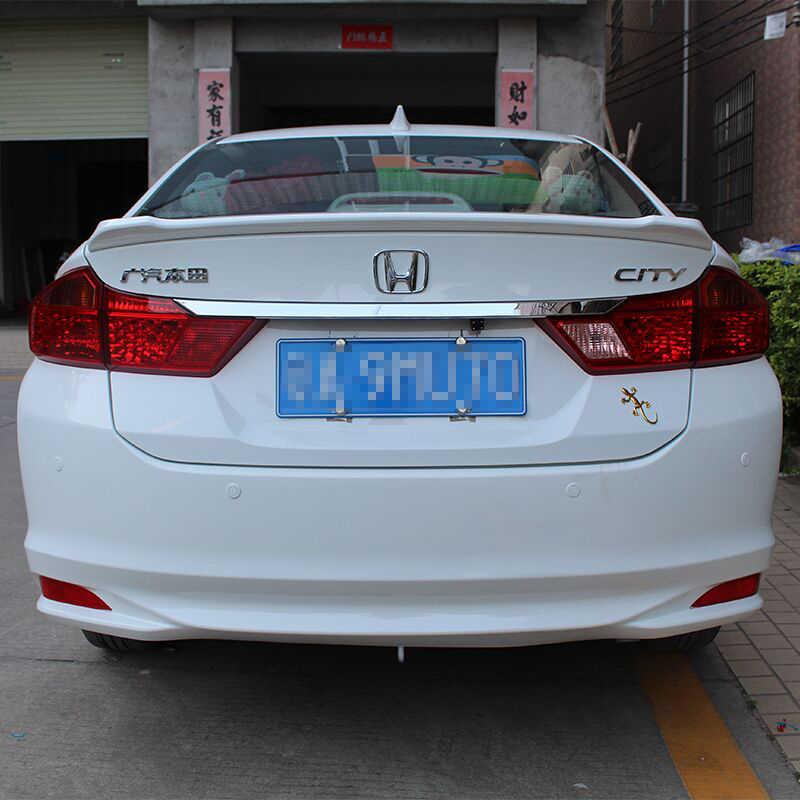 Voor Honda City Spoiler 2015 2016 2017 Auto Tail Wing Decoratie ABS Plastic Unpainted Primer Kofferbak Spoiler