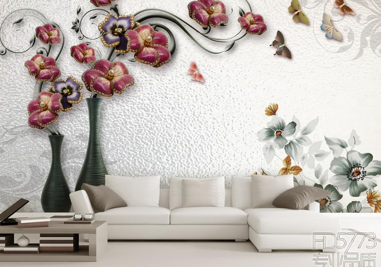 3D Mural Wallpaper Non-woven European style Bedroom Living Room TV Sofa Backdrop Wallpaper Flowers 3D Photo Wallpaper Home Decor large custom 3d wallpaper mural 3d wallpaper 3d stereoscopic rose pink flowers living room bedroom tv backdrop box