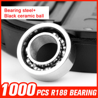 1000pcs R188 Bearing Steel Ceramic Ball Bearings For Inline Roller SkatIng EDC Spinner Toy Hardware Tool