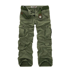 Image 2 - Erkek Çok Cep Rahat Kamuflaj Pantolon Erkekler Askeri Kargo Pantolon Yıkanmış Pantolon Gevşek Pantolon Erkekler Için Yeni Varış