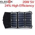 ELEGEEK 20 W 5 V Folding Painel Solar Carregador Portátil Dual USB Saída de Alta Eficiência Sunpower Painel Solar para Celular 5 V Dispositivo
