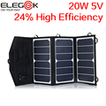 ELEGEEK 20W 5V Folding Solar Panel Charger Portable Dual USB Output High Efficiency Sunpower Solar Panel for Cellphone 5V Device