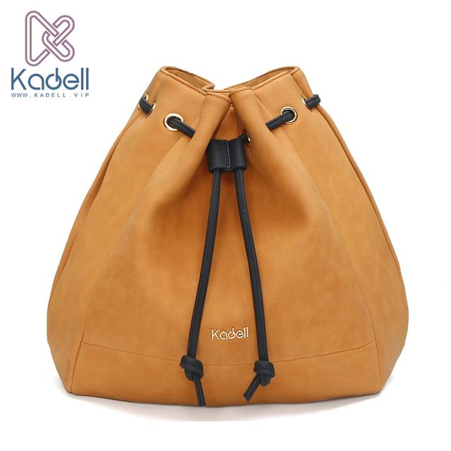Kadell Лето 2017 г. шнурок PU кожаная сумка-мешок Повседневное хозяйственная сумка портфель Ёмкость Tote BOLSOS известный бренд Для женщин сумки