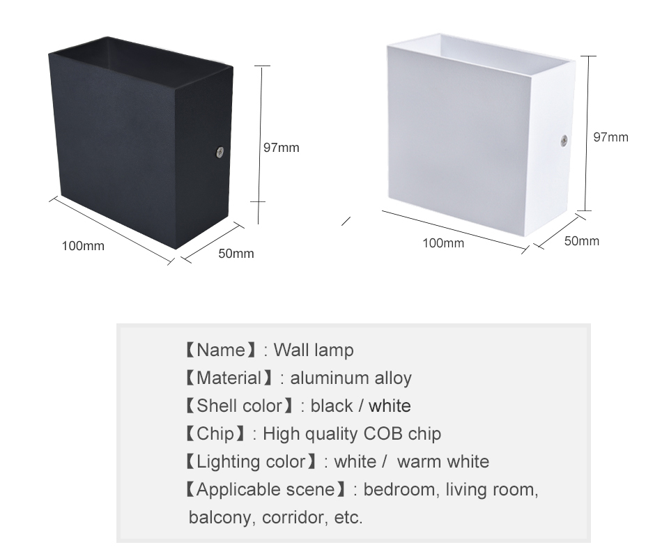LED Diode Wall lampada  For Bedroom Living Room (3)