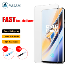 UV Liquid Full Glue Tempered Glass For Oneplus 7 Pro case Screen Protector Cover One plus glass