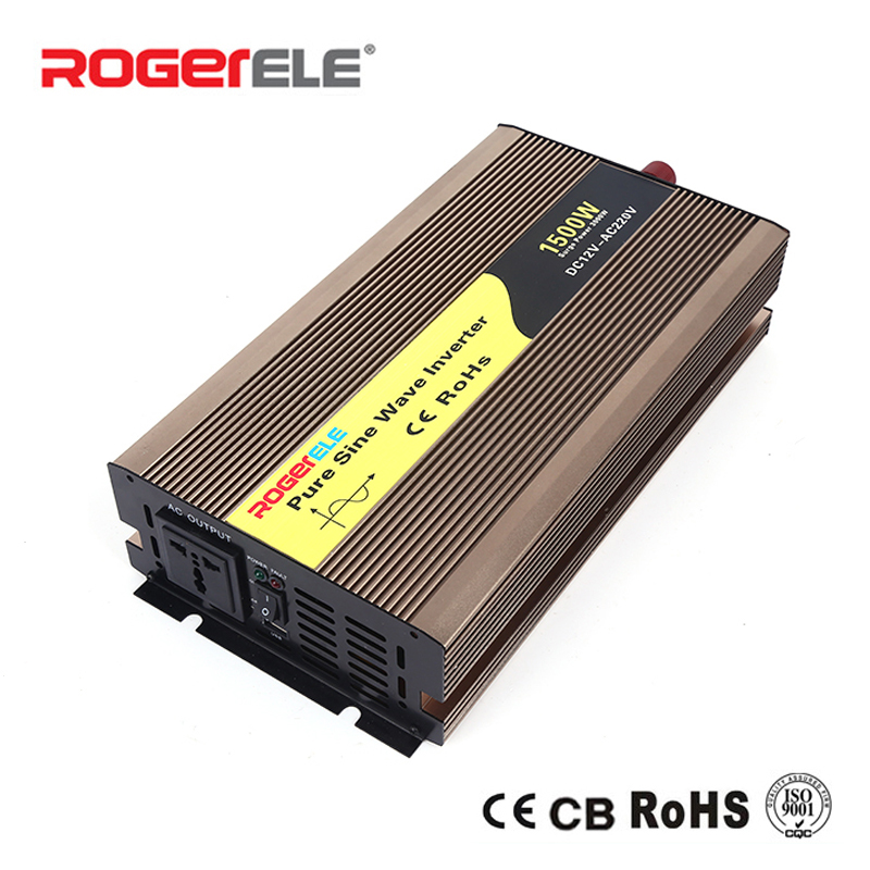 цена на 1500W 12VDC/24VDC to 110VAC/220VAC Pure Sine Wave Inverter Charged From Battery