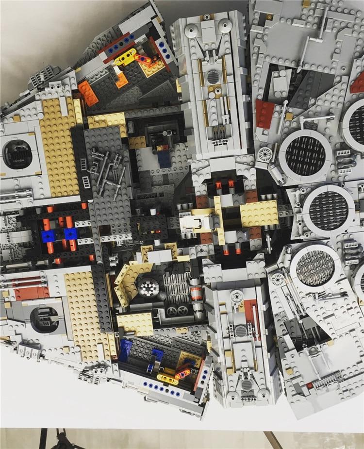 Millennium Falcon Lepin8445pcs Compatible 75192 Star wars Series Ultimate Collectors Model Building Bricks Toys 21