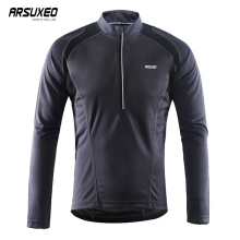 цена на ARSUXEO Cycling Jersey Reflective MTB Jersey Breathable Long Sleeve Bicycle Jersey For Men Quick Dry Bike Clothing