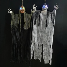 Halloween Horror Skull Props Scary Hanging Ghost Decoration Creepy Bar