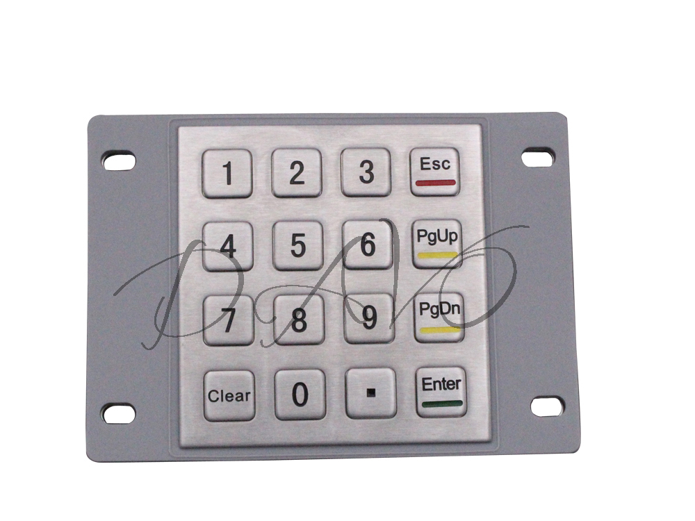 IP65 Metal Keyboard Waterproof Stainless Steel Keyboard Numeric Keypad With 16 Keys For Industrial Kiosk Membrane KeypadIP65 Metal Keyboard Waterproof Stainless Steel Keyboard Numeric Keypad With 16 Keys For Industrial Kiosk Membrane Keypad