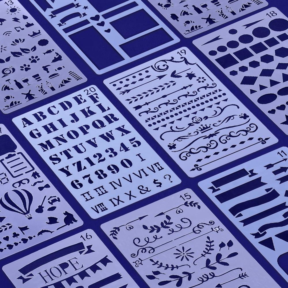 Ufficiale Planner Stencil, lettere, alfabeto, digitale, Mylar Stencil. di plastica stencil, Banner, Grafica, Proiettile, 2019 NUOVO Arrivo