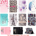 For Samsung Galaxy Tab E 9.6 T560 T561 SM-T560 Case Owl Mandala Flower Tower Pattern PU Leather Flip Tablet Shell Protector