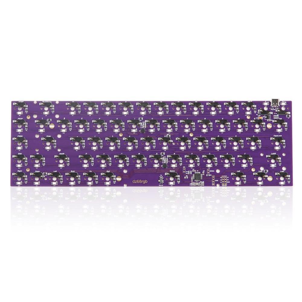 DZ68 RGB échange à chaud PCB type-c interface pour bricolage clavier mécanique fit TADA68/Tofu65