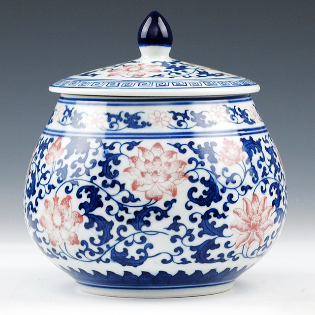 Blue And White Beauty Shoulder Chinese Reproduction Ceramic Ginger Jars Antique Porcelain Temple Home Decoration