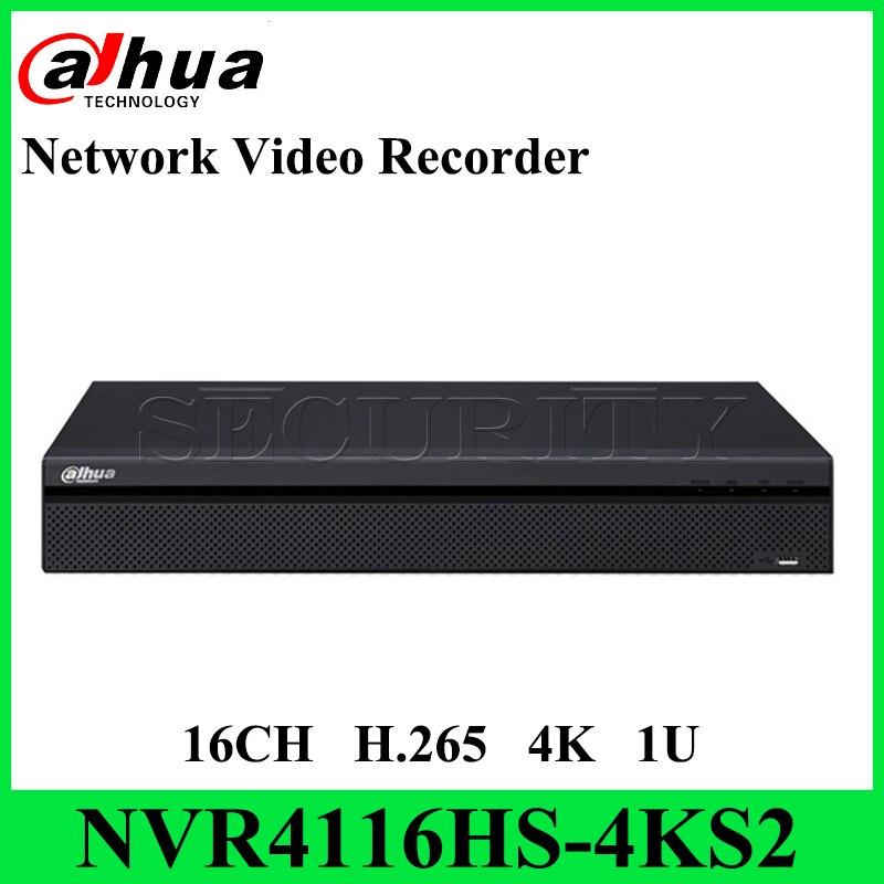Dahua Original NVR4116HS 4KS2 16CH Compact 1U 4K amp H 265 Lite Network Video Recorder NO