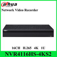 Dahua Original NVR4116HS 4KS2 16CH Compact 1U 4K&H.265 Lite Network Video Recorder NO POE With LOGO