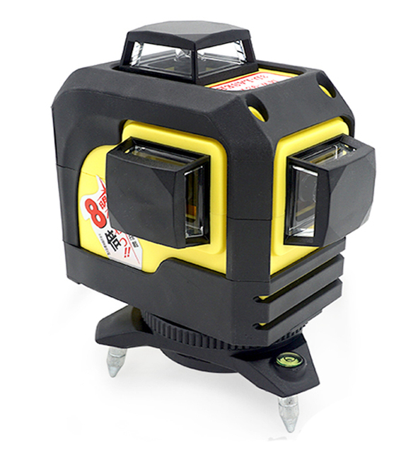 12 lines 3d laser level 360 degree rotary cross laser line level horizontal and vertical tool