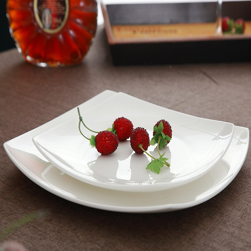8.5 inch creative bone china square plates dishes ceramic trays for food serving white ceramic plates decorations-in Dishes \u0026 Plates from Home \u0026 Garden ... & 8.5 inch creative bone china square plates dishes ceramic trays ...