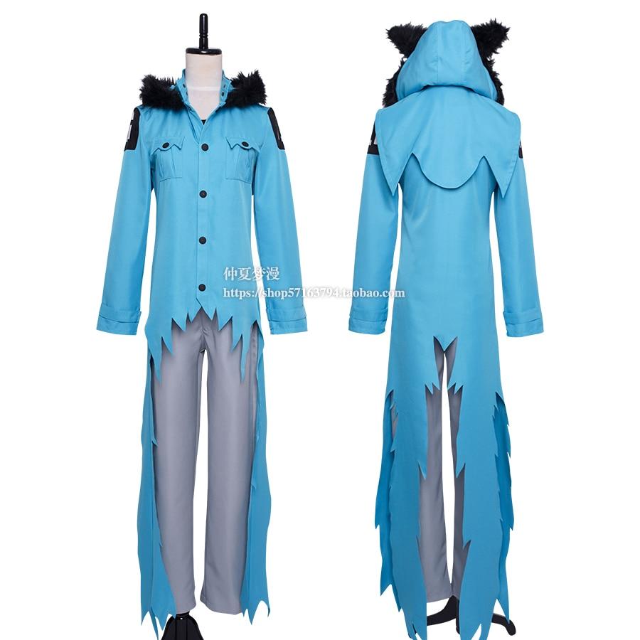 Servamp Kuro Jacket Cosplay Trench Costume Coat Tailor made servamp anime vampire mahiru kuro snow lily jeje hyde food version japanese rubber keychain