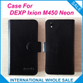 Hot!! 2016 DEXP Ixion M450 Caso Neon, 6 Cores de Alta Qualidade de Couro Capa Exclusiva Para DEXP Ixion M450 Neon número de rastreamento