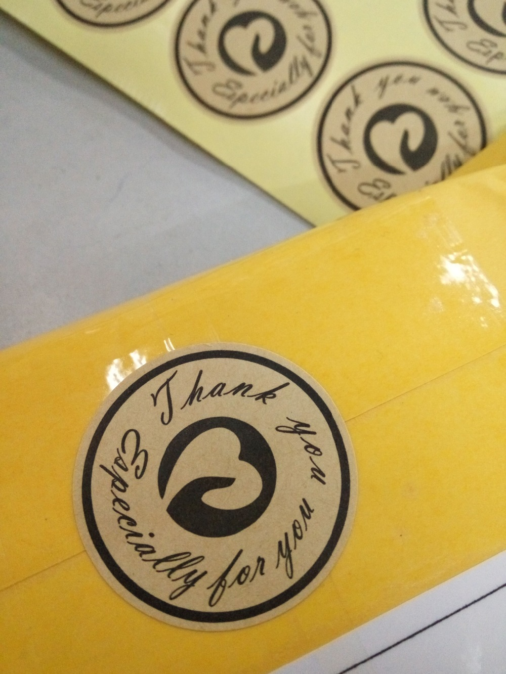 ღ ღ126 unids gracias Etiqueta, etiquetas de papel de diseño ...
