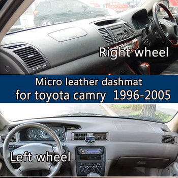 For toyota camry 1996-2005 Micro Leather Dashmat Dashboard Cover Prevent Sunlight Pads Dash Mat 1997 2001 2002 2003 2004 LHD+RHD
