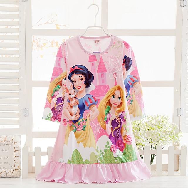 2017 Cartoon Snow White Design Girls Princess Pajamas High Quality Children  Nightgown For Girls Sleepwear Dress Spring Pyjamas 79db680d8b