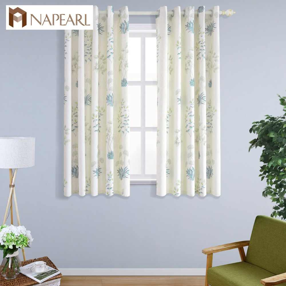 NAPEARL Window Screening Semi-blackout  Decorative Kitchen Window Short Curtains for Living Cloth High Quality Fancy Curtains