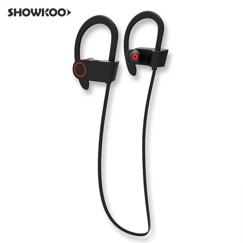Showkoo Headphones IPX7 Waterproof Fone De Ouvido Auriculares Sport Wireless Bluetooth Earphones Noise Canceling Stereo Headset nfc dacom athlete bluetooth headsets wireless sport headsfree headphones stereo music earphones fone de ouvido with microphone