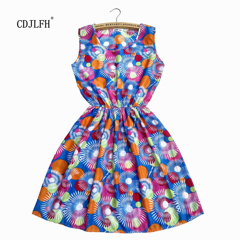 2015 Women 20 Color Sleeveless Print Clothing Chiffon printed dress Casual vestidos Women Dress summer fashion Dresses WXNZ18-04