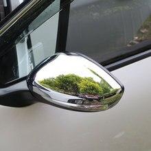 JameoอัตโนมัติABSโครเมี่ยมรถมองหลังกระจกคุ้มครองครอบคลุมมองหลังสติ๊กเกอร์กระจกสำหรับเปอโยต์208 2014 2017อุปกรณ์เสริม