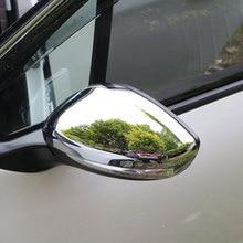 Jameo Otomatik ABS Krom Araba Dikiz Aynası Koruma Kapakları dikiz aynası Çıkartmaları Peugeot 208 için 2014 2017 Aksesuarları