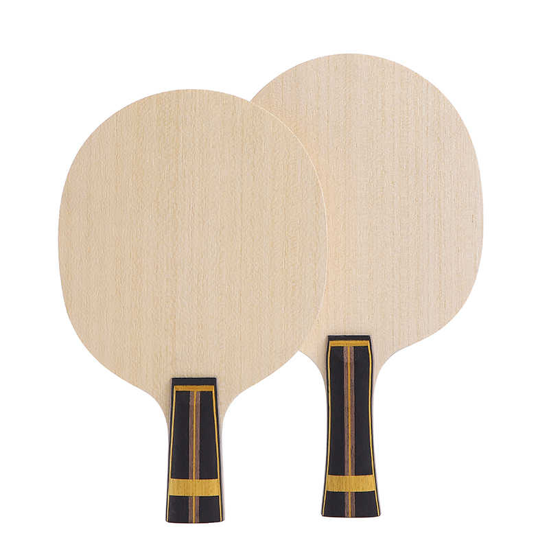 Zhangjike ZL carbon table tennis blade 5 layers wood 2 layers ZLC carbon offensive long handle horizontal grip ping pong racket
