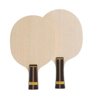 Image 1 - Zhangjike ZL carbon table tennis blade 5 layers wood 2 layers ZLC carbon offensive long handle horizontal grip ping pong racket