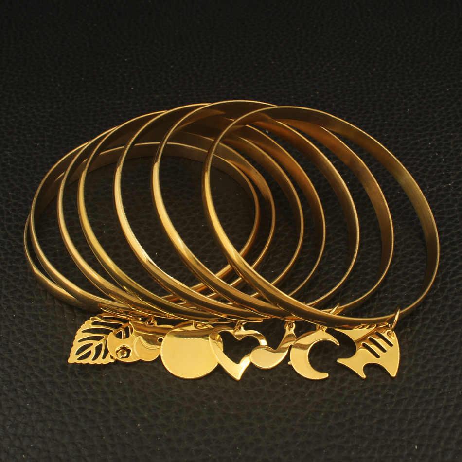 أحدث تصميم مجوهرات من صلب لا يصدأ الذهب اللون 69 مللي متر الأزياء أساور سوار للفتيات والنساء الجملة BFADAVCA