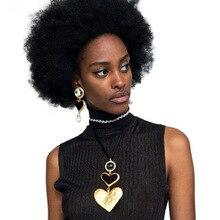 2019 Handmade Hyperbole Heart Shape Pendant Necklaces Boho Style Women Sweater Chain Necklace Trendy Fashion Party Jewelry